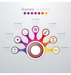 infographics timeline seven options vector image