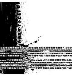 Ink blots tire track vector image