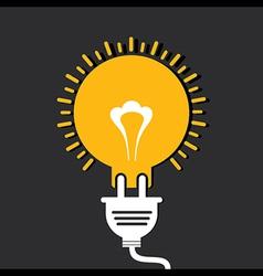 Innovation idea concept with bulb and plug vector