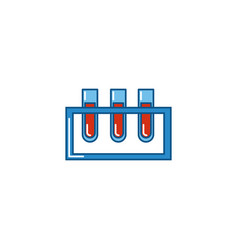 Isolated blood test tube icon fill design vector