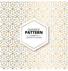 isometric pattern design vector image