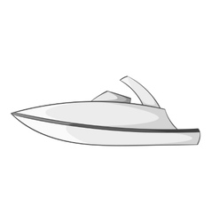 Little powerboat icon gray monochrome style vector