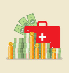 medical bag with money vector image