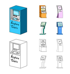 medical terminal atm for paymentapparatus for vector image