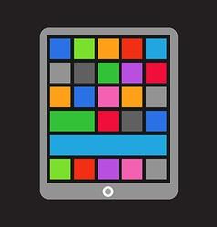 Modern tablet gadget vector image