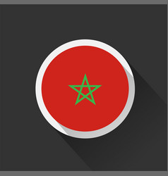 Morocco national flag on dark background vector