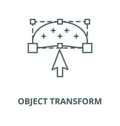 object transform line icon linear concept vector image