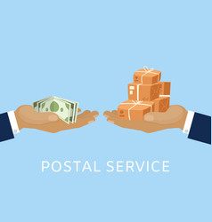 post service and parcels delivery concept vector image