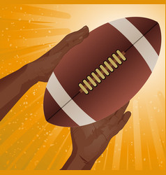 Rugby american football catch vector
