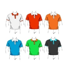 set of clothes vector image