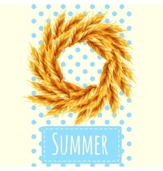 Sheaf as a symbol of the summer and autumn vector