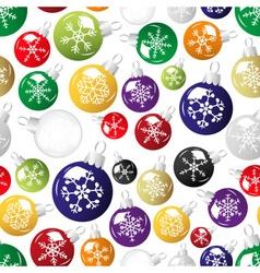 Shiny christmas decoration with snowflake seamless vector