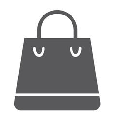 shopping bag glyph icon shop and buy package vector image