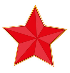 sign red star vector image