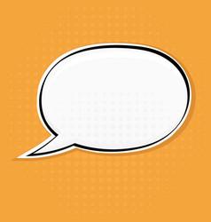 speech bubble on yellow background pop art style vector image