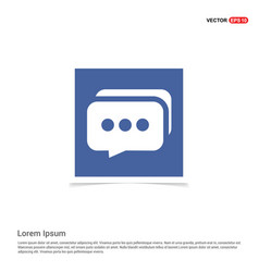 speech bubbles icon - blue photo frame vector image