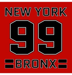 t-shirt New York vector image