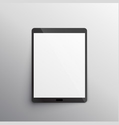tablet device mockup design vector image