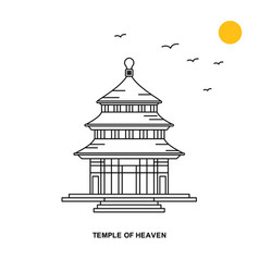 Temple heaven monument world travel natural vector