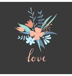Valentine trendy card vector image