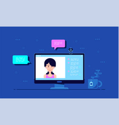 video chat concept vector image