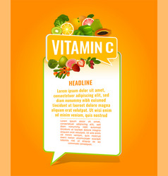 Vitamin c banner vector