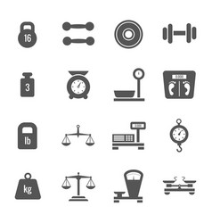 weight scales balance heavy luggage kilogram vector image vector image