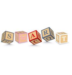Word SMART written with alphabet blocks vector image