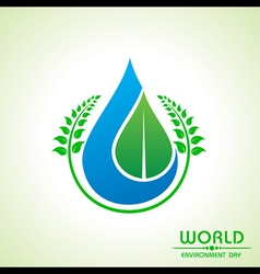 world environment day greeting design vector image