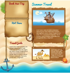 Background for travel website vector image vector image
