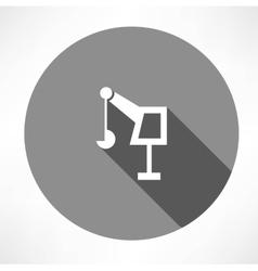 hoisting crane icon vector image vector image