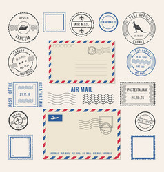 letters and postmarks vector image