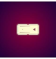 pool or billiards table symbol vector image