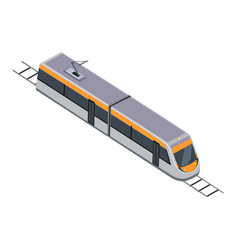subway train high speed inter-city commuter vector image