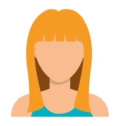 Young woman profile with blonde hair vector image vector image