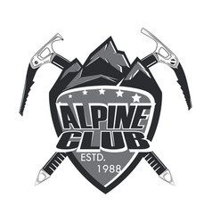 alpine club badge vector image