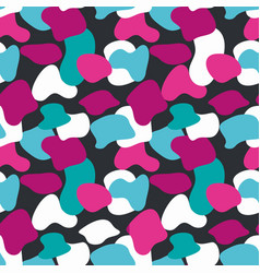blue and pink camouflage masking pattern vector image vector image