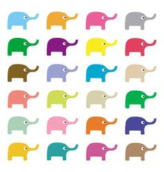 Elephants background3 vector