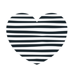 hand drawing dark blue lines in heart shape vector image vector image