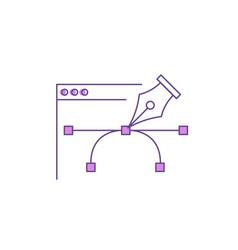 pen tool for website design vector image vector image