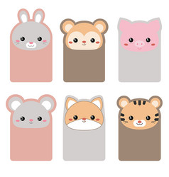 collection of cute cards collection of cute cards vector image