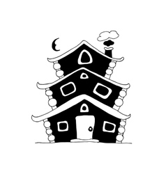 Fairy house sketch for your design vector image