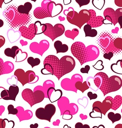 cute hearts seamless background vector image vector image