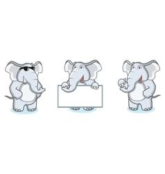 Gray Elephant Mascot happy vector image