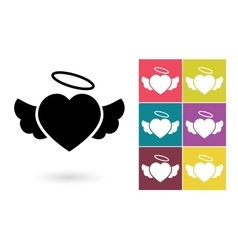 Heart icon or heart pictogram vector image vector image
