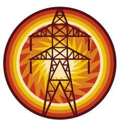 power line symbol vector image