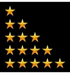 Rating stars set Web or mobile User feedback vector image vector image