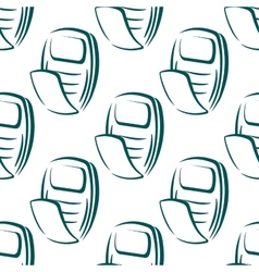 Seamless pattern of a retro mobile phone vector image vector image