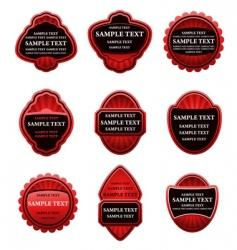set of vintage red labels vector image vector image