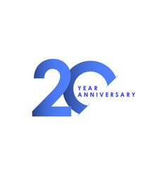 20 years anniversary celebration blue gradient vector